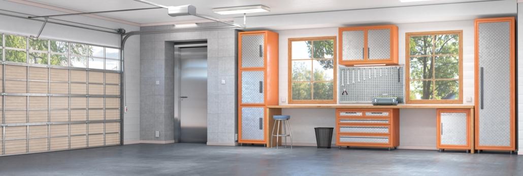 Stylized Interior Garage
