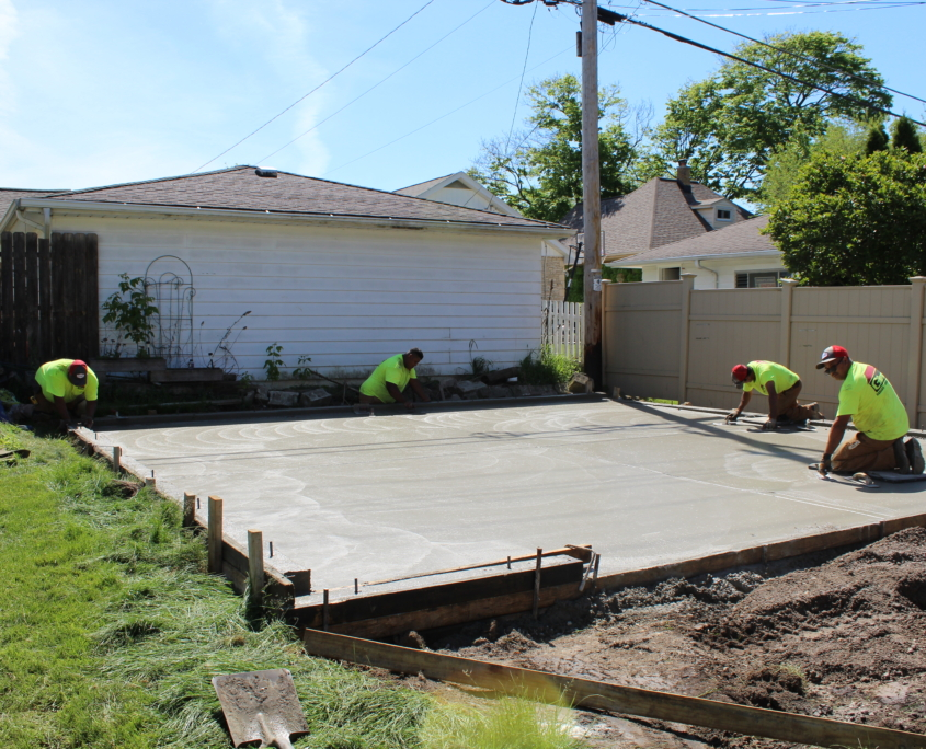 JD Griffiths garage concrete slab